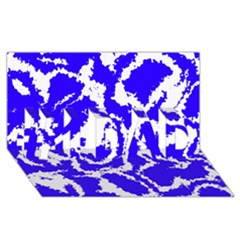Migraine Blue #1 DAD 3D Greeting Card (8x4)