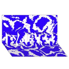 Migraine Blue PARTY 3D Greeting Card (8x4)