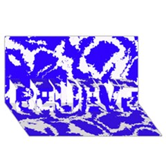 Migraine Blue Believe 3d Greeting Card (8x4)