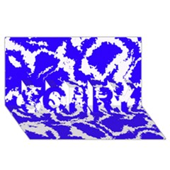 Migraine Blue SORRY 3D Greeting Card (8x4)