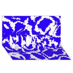 Migraine Blue HUGS 3D Greeting Card (8x4)