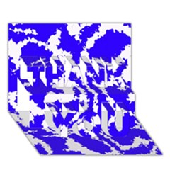 Migraine Blue THANK YOU 3D Greeting Card (7x5)