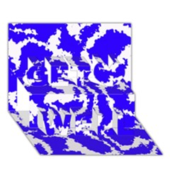 Migraine Blue Get Well 3d Greeting Card (7x5)