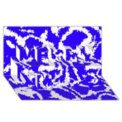 Migraine Blue Merry Xmas 3d Greeting Card (8x4)