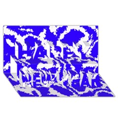 Migraine Blue Happy New Year 3d Greeting Card (8x4)