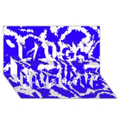 Migraine Blue Laugh Live Love 3D Greeting Card (8x4)