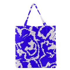 Migraine Blue Grocery Tote Bags
