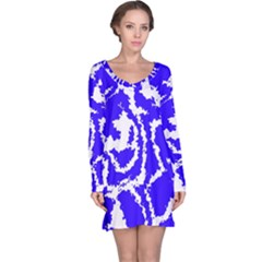 Migraine Blue Long Sleeve Nightdresses