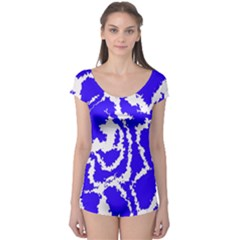 Migraine Blue Short Sleeve Leotard