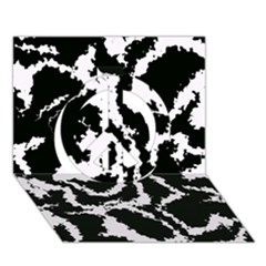 Migraine Bw Peace Sign 3D Greeting Card (7x5)
