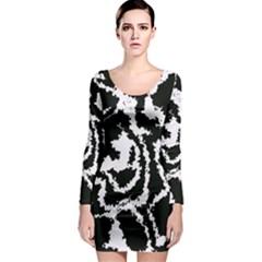 Migraine Bw Long Sleeve Bodycon Dresses