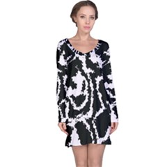 Migraine Bw Long Sleeve Nightdresses
