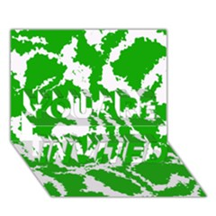 Migraine Green You Are Invited 3d Greeting Card (7x5)