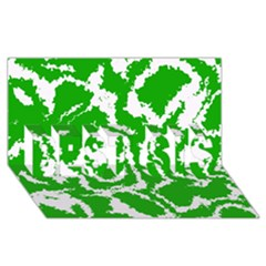 Migraine Green BEST SIS 3D Greeting Card (8x4)