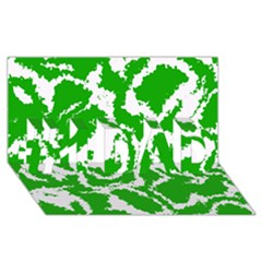 Migraine Green #1 DAD 3D Greeting Card (8x4)