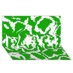 Migraine Green PARTY 3D Greeting Card (8x4)