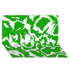 Migraine Green HUGS 3D Greeting Card (8x4)
