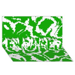 Migraine Green Engaged 3d Greeting Card (8x4)