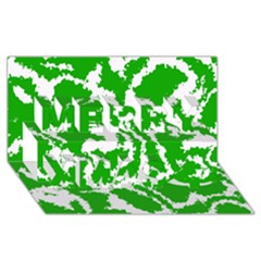 Migraine Green Merry Xmas 3D Greeting Card (8x4)