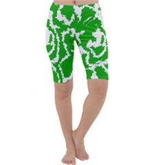 Migraine Green Cropped Leggings