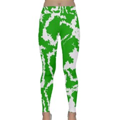 Migraine Green Yoga Leggings
