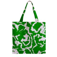 Migraine Green Zipper Grocery Tote Bags