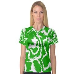 Migraine Green Women s V-Neck Sport Mesh Tee