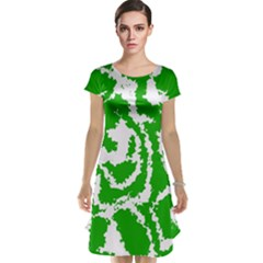 Migraine Green Cap Sleeve Nightdresses