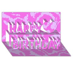Migraine Pink Happy Birthday 3d Greeting Card (8x4)