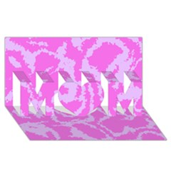 Migraine Pink Mom 3d Greeting Card (8x4)