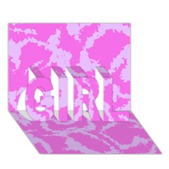 Migraine Pink GIRL 3D Greeting Card (7x5)