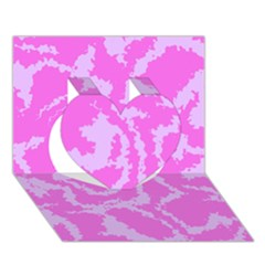 Migraine Pink Heart 3d Greeting Card (7x5)