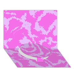 Migraine Pink Circle Bottom 3D Greeting Card (7x5)