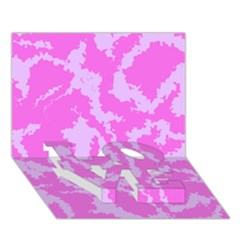 Migraine Pink Love Bottom 3d Greeting Card (7x5)