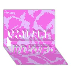 Migraine Pink YOU ARE INVITED 3D Greeting Card (7x5)