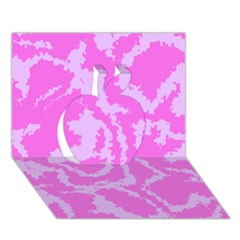 Migraine Pink Apple 3D Greeting Card (7x5)