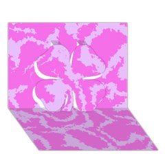 Migraine Pink Clover 3d Greeting Card (7x5)