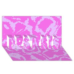 Migraine Pink BEST SIS 3D Greeting Card (8x4)