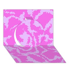 Migraine Pink Circle 3D Greeting Card (7x5)