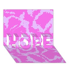 Migraine Pink Hope 3d Greeting Card (7x5)