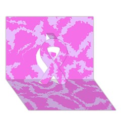 Migraine Pink Ribbon 3D Greeting Card (7x5)