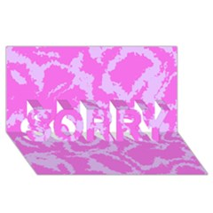 Migraine Pink SORRY 3D Greeting Card (8x4)