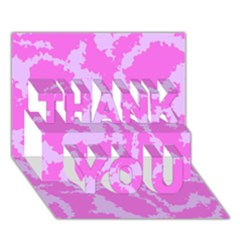 Migraine Pink THANK YOU 3D Greeting Card (7x5)