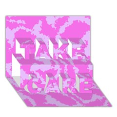 Migraine Pink Take Care 3d Greeting Card (7x5)