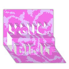 Migraine Pink You Did It 3D Greeting Card (7x5)