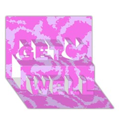 Migraine Pink Get Well 3D Greeting Card (7x5)