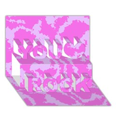 Migraine Pink You Rock 3D Greeting Card (7x5)