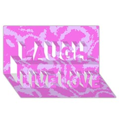 Migraine Pink Laugh Live Love 3d Greeting Card (8x4)