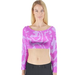 Migraine Pink Long Sleeve Crop Top