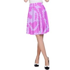 Migraine Pink A Line Skirts
